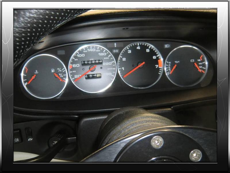 PORSCHE 944  1982-1991 ALUMINIUM  CHROME gauge cluster bezel dashboard ring